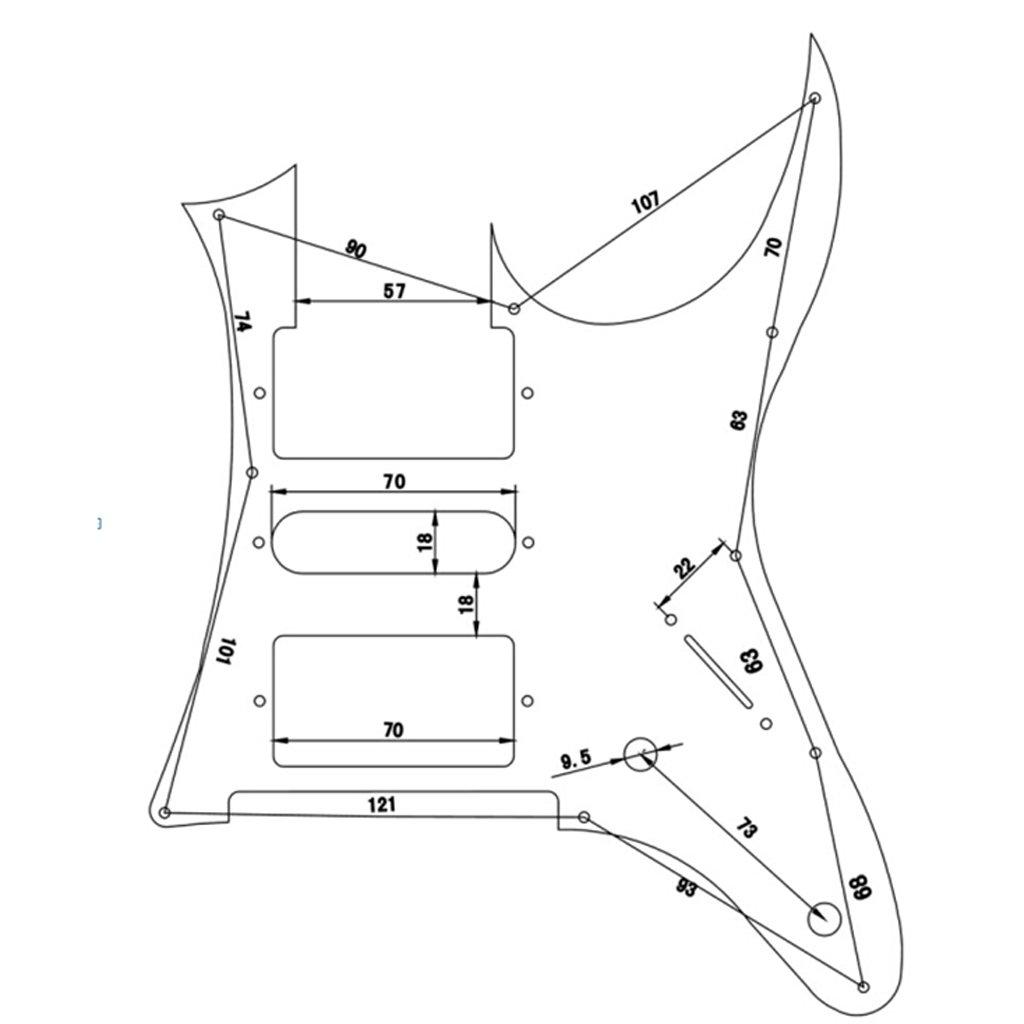 Non-brand 3Ply Battipenna Chitarra Guardia Piate Per Ibanez RG 350 DX
