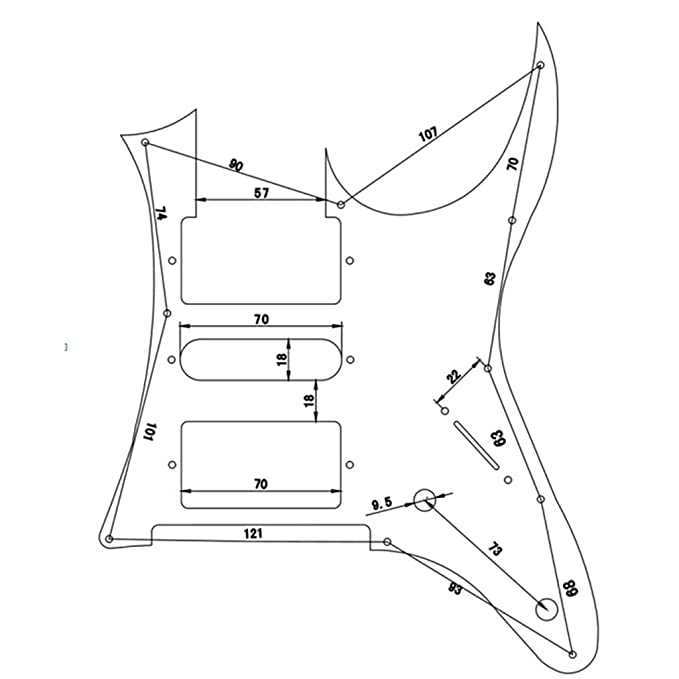 Amazon Com 3ply Quality Guitar Pickguard For Ibanez Rg 350 Dx White