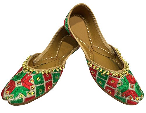 Étape Gota Designer Chappal Femme Chaussures Style N Juti Patti Plates Indien Travail Step Sandales EwqTXAFx