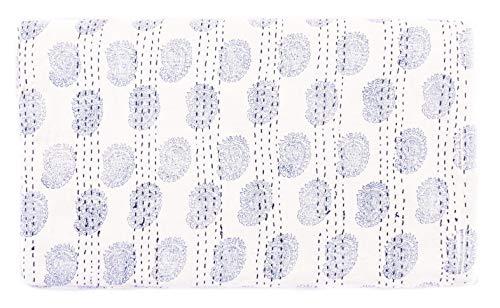 Sophia Art Indian King/Queen Size Kantha Quilt, Bohemian Bedding Kantha, Block Kantha Rallies, Reversible Blanket/Bedspread Quilt (Multi) (Cotton Quilt Block)