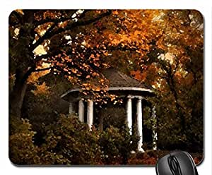 Autumn gazebo Mouse Pad, Mousepad (Watercolor style) by icecream design