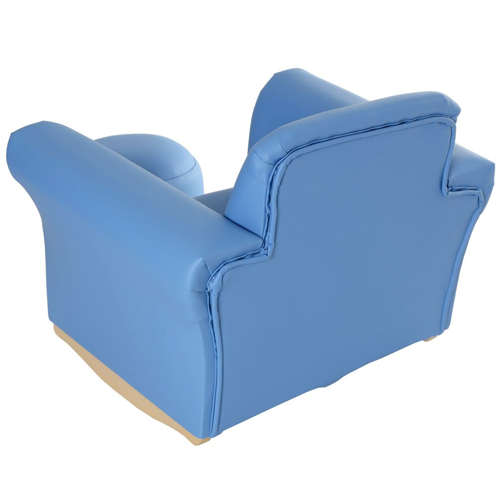 Merveilleux XS Stock Childrenu0027s PU Leather Look Rocker Rocking Armchair Seat U0026 Footstool    Baby Blue: Amazon.co.uk: Kitchen U0026 Home