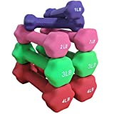 Titan Neoprene Light Weight Dumbbell Set - 1, 2, 3, 4 LB