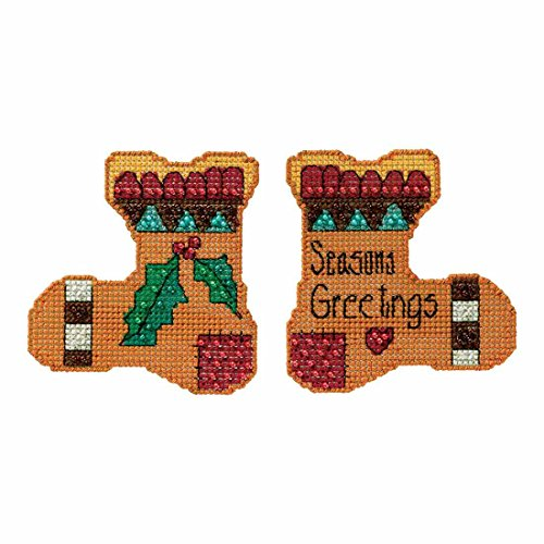 Season's Greetings Christmas Stockings Beaded Counted Cross Stitch Kit Mill Hill 2016 Sticks - Christmas Greetings Seasons Stockings