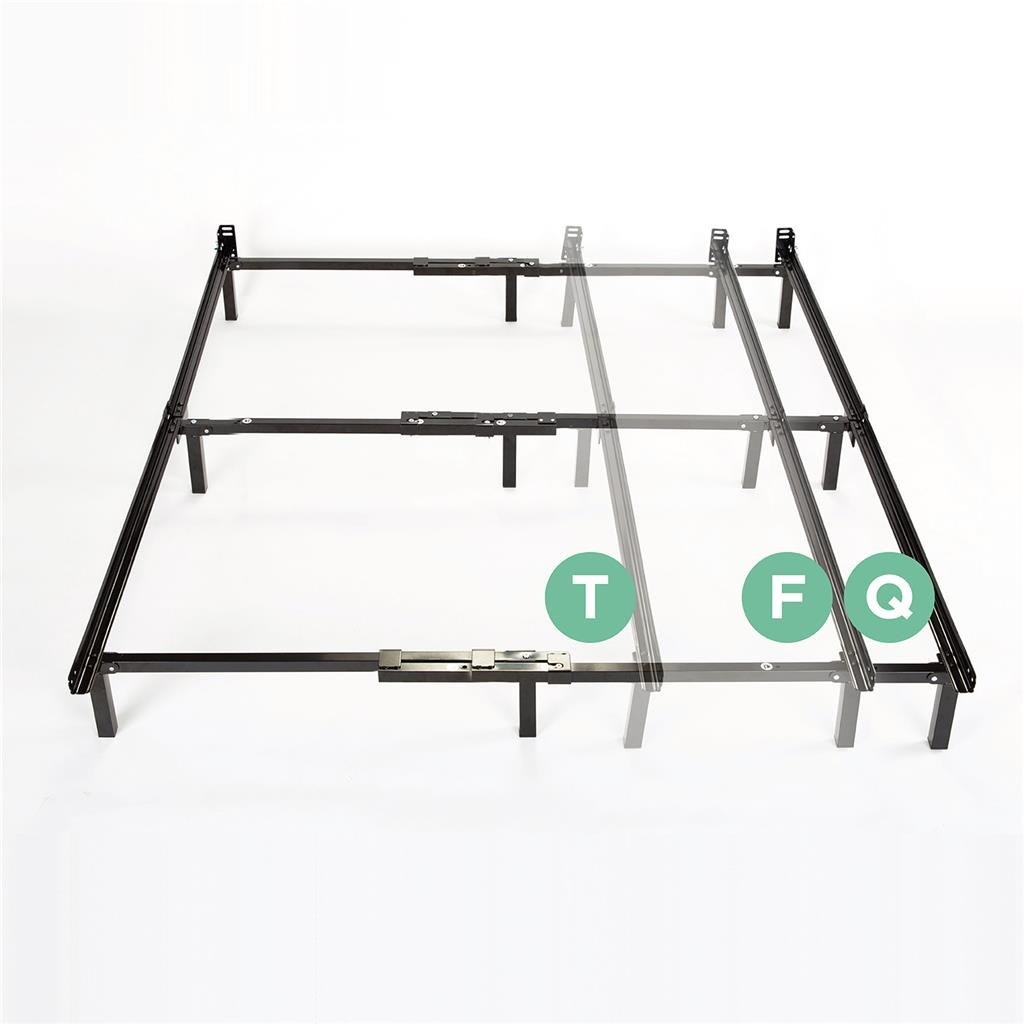 Zinus Michelle Compack Adjustable Steel Bed Frame for Box Spring and Mattress Set, Fits Twin to Queen sizes by Zinus