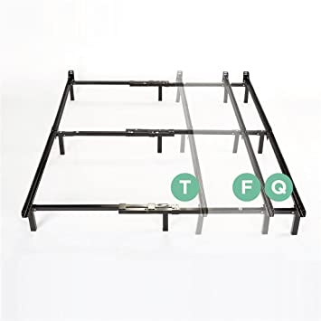 Amazon Com Zinus Michelle Compack Adjustable Steel Bed Frame For