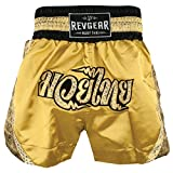 Best Gold's Gym Gloves Gyms - Revgear Women's Apsara Thai Shorts, Gold, X-Small Review
