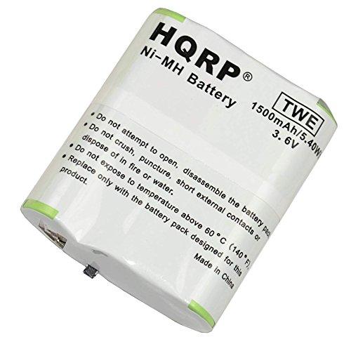 HQRP 1500mAh Battery Pack for Motorola T4800, T4900, T5000, T5022, T5025, T5320, T5400, T5500, T5500R, T5525, EM1000, EM1000R, MR350R, MR355R Series Two-Way Radio plus Coaster