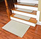 deans flooring - Dean Non-Slip Tape Free Pet Friendly Stair Gripper Natural Fiber Sisal Carpet Stair Treads - Island Sand 29