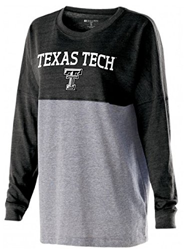 - Ouray Sportswear NCAA Texas Tech Red Raiders Women's Low Key Pullover Top, X-Large, Vintage Black/Vintage/Grey