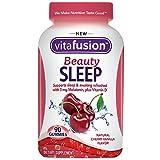 Vitafusion Beauty Sleep Gummies, Cherry-Vanilla 90 ea (Pack of 4)