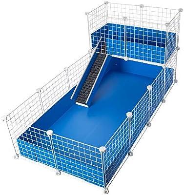 CagesCubes - Jaula CyC Deluxe (Base 2X4 + Loft 2x1 - Panel Blanco ...