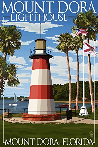 Mount Dora, Florida - Lighthouse (24x36 SIGNED Print Master Giclee Print w/Certificate of Authenticity - Wall Decor Travel Poster) ()