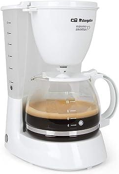 Orbegozo CG 4050 B - Cafetera goteo, 1,3 litros, jarra de cristal, capacidad para 12 tazas, 800 W de potencia: Amazon.es: Hogar
