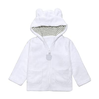 Lanpan Kids Boys Girls Solid cartoon Hooded Coat Cloak Tops Warm Clothes