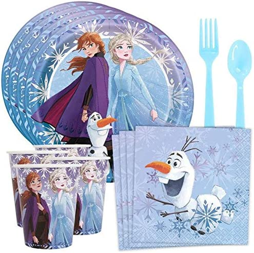 BirthdayExpress Frozen 2 Party Tableware Pack for 8 Guests