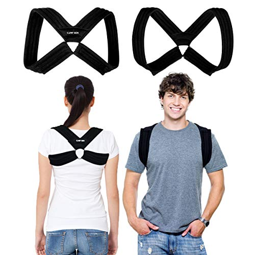 "CAMP BEN Original Posture Corrector Figure 8 Clavicle Brace for Women and Men (MED 31-38"") Improve Posture - Stop Slouch - Upper Back Brace Shoulder Support Device - Relief from Back and Neck Pain"
