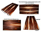 Cocobolo boards set #9, 68.375'' long x 10.75'' wide x 1.125'' thick