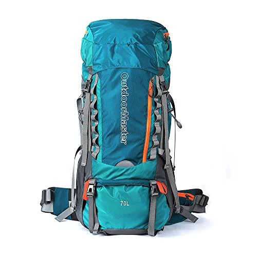 OutdoorMaster 70L+5L Hiking Backpack