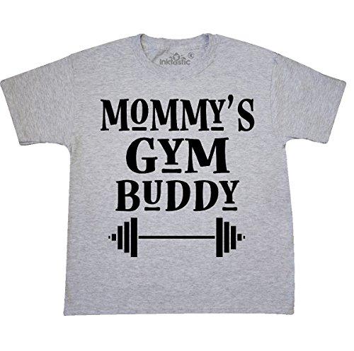 Youth Ash Gym (inktastic Mommy Gym Buddy Youth T-Shirt Youth Medium (10-12) Ash Grey 2e1d9)
