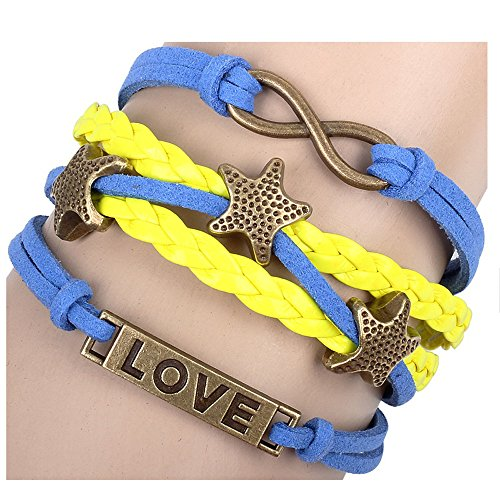 Winter's Secret Color Star Lucky Figure Eight Multi Strand Hand Braided Love Identification ()