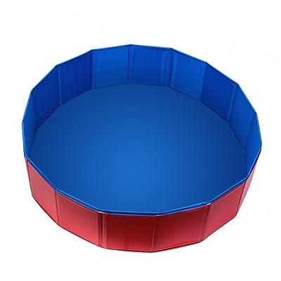 Jzlian PVC Pet Swimming Pool, Portable Foldable Pool Dogs Cats Bathing Tub Bathtub Wash Tub Water Pond Pool & Kiddie Pools