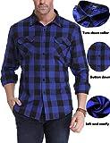 iClosam Mens Casual Checkered Plaid Flannel Long Sleeve Shirt