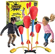 Stomp Rocket The Original Dueling Rockets Launcher, 4 Rockets and Toy Rocket Launcher - Outdoor Rocket STEM Gi
