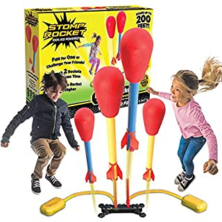 The Original Stomp Rocket Dueling Rockets, 4 Rockets and Rocket Launcher - Outdoor Rocket Toy Gift for Boys and Girls Ages 6 Years and Up - Great for Outdoor Play with friends in the backyard & parks