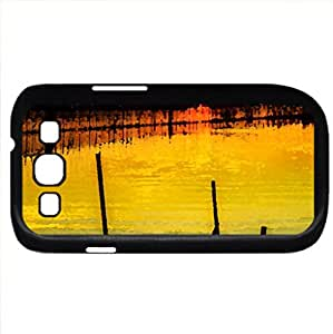 Early Dawn! (Lakes Series) Watercolor style - Case Cover For Samsung Galaxy S3 i9300 (Black)