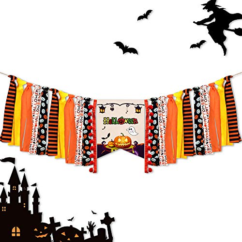 Trunk Or Treats (LLAMATIVO Halloween Decoration Banner Party Supplies with Pumpkin Ghost Banner - Halloween Decor Durable Trick or Treat Banner Halloween Home Office Party Decor Halloween Decorations)