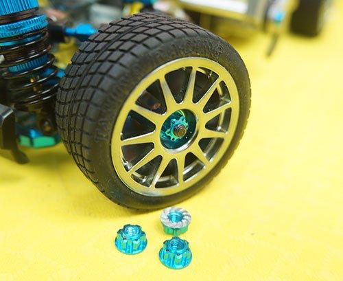 Yeah Racing YA-0448SV 4mm Aluminium Wheel Flange Lock Nut Silver For RC Car