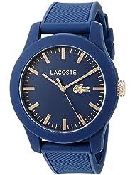 Lacoste Mens 2010817 Lacoste.12.12 Analog Display Japanese Quartz Blue Watch