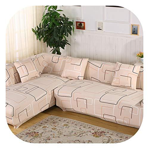 (Juvenile shoulder L Shaped Sofa Covers 2 Pieces Covers for Corner Elastic Sofa Flower Khaki Universal Stretch Sofa Sectional Slipcover,3,80-140cm 145-190cm)