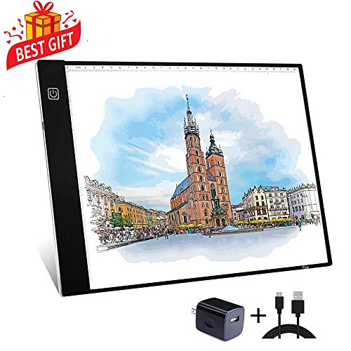 A4 Tracing Light Box Portable LED Light Table Tracer Board Dimmable Brightness Artcraft Light Pad for Artists Drawing 5D DIY Diamond Painting Sketching Tattoo Animation Designing (Best Tablet For Tattoo Artist)
