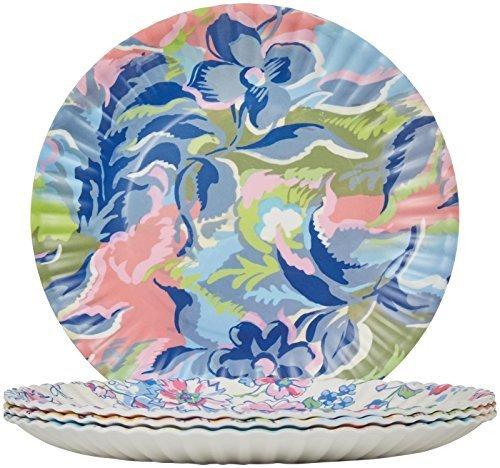 (Glitterville Melamine Flea Market Paper Plate, 11-Inch, Set of)