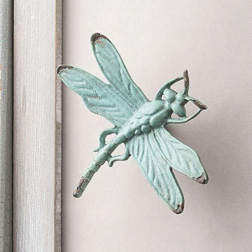 zenggp Cabinet Knob Antique Zinc Alloy Dragonfly Cabinet Knob Metal Animal Drawer Pull Door Handle,Blue