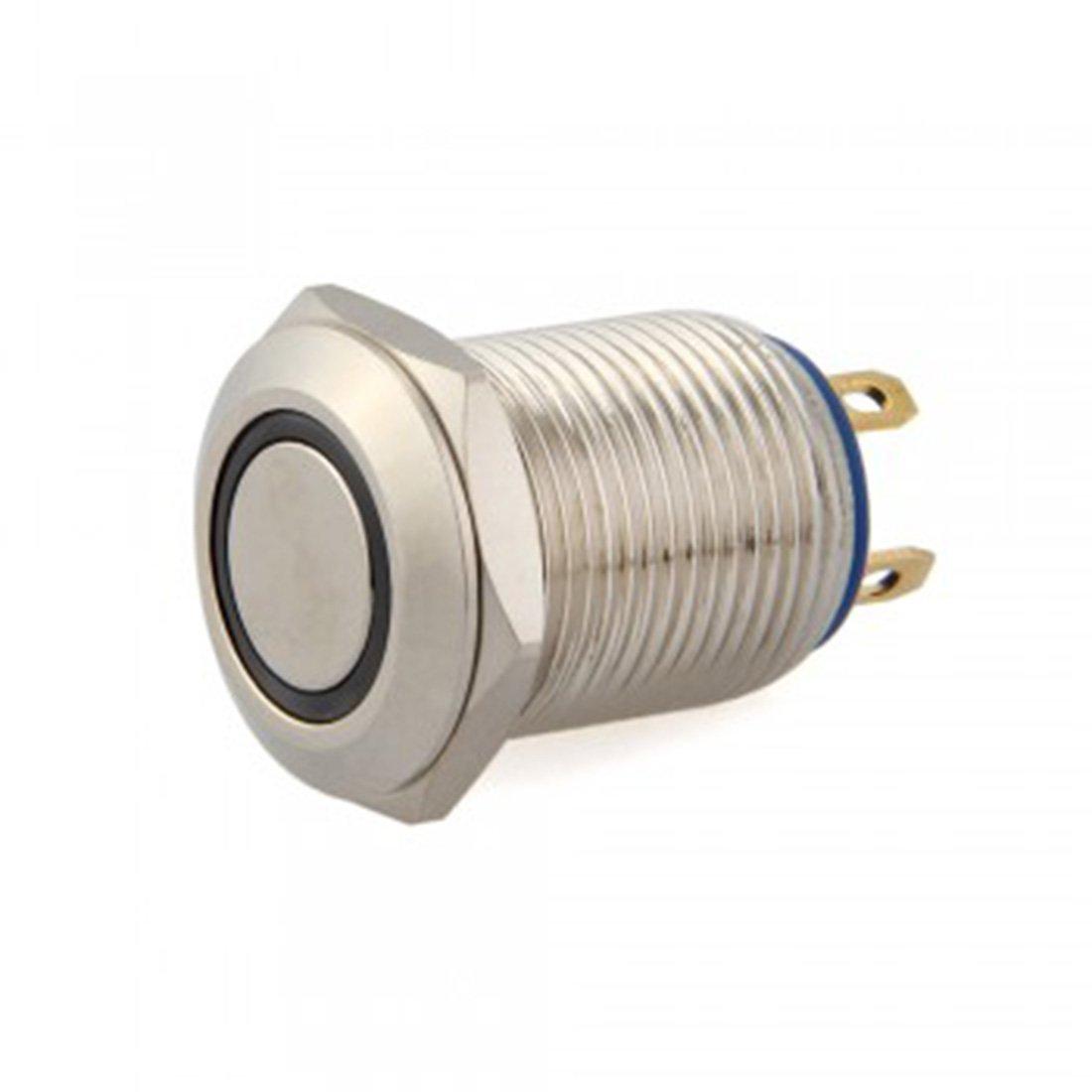LovelyLifeAST AST1218C342 12 /Mm 12 /V Momentan/é Sur Boutons Poussoir Interrupteur On//Off Durable Automatique LED Bleu