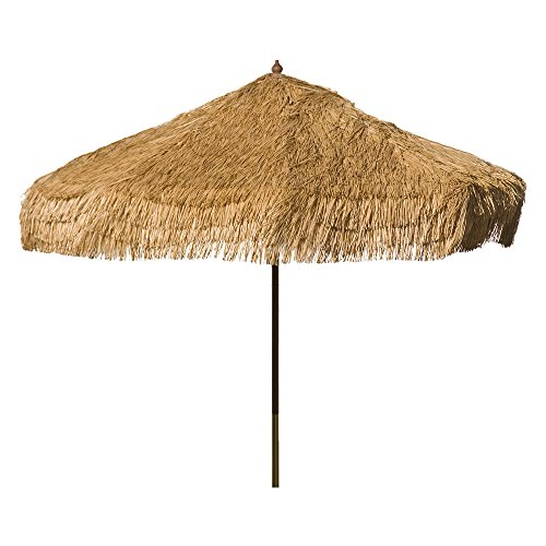 Heininger 1278 DestinationGear Palapa Tiki Whiskey 9' Patio Pole Umbrella -