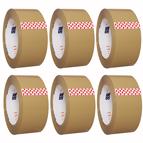 Packing Tape SealMax By TOTALPACK - Heavy Duty, Adhesive Acrylic Base Sticks On Any Surface - 2 Mil Thickness - 2 inches x 110 Yards - Meets All UPS & US Postal Regulations, Tan, 6 Rolls (Packing Paper Tape)