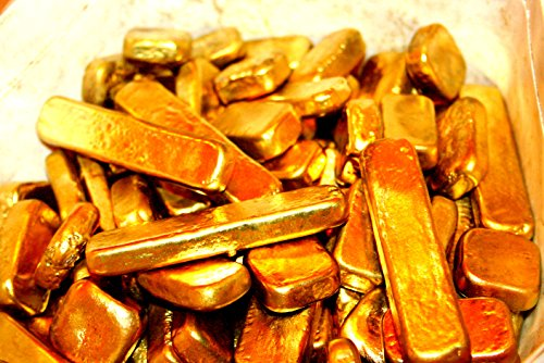 200 Grams Gold Recovery Gold Bar Melted Drop Scrap Plated