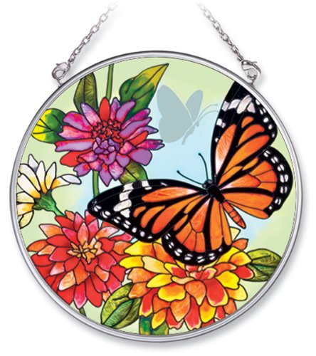 Amia 5683 Medium Circle Suncatcher with Butterfly Design