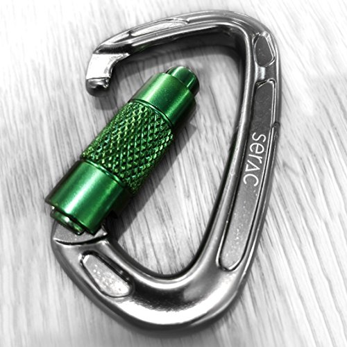 5400 Harness - Serac #1 Ultra Strength Auto-Locking Carabiner (up to 24KN, That's 5400 lbs of Force!) Perfect for Classic Single or Sequoia Double hammocks - Made from Ultralight Aircraft Grade Aluminum - Green