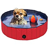 Yaheetech Foldable PVC Pet Swimming Pool Bathing Tub