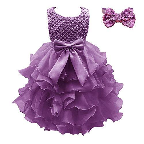 67f721ff27f7 Weileenice Girls Kids Tulle Flower Dress Baby Girl Princess ...