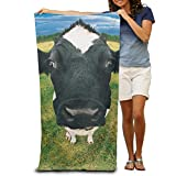 PMNADOU Cute Cows Standing 100% Polyester Adults Beach Towels Unisex Pool Towel