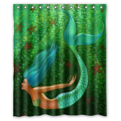 Amazon.com: Underwater World Ocean Deep Sea Beautiful Mermaid 60(w on living room underwater, bedroom underwater, bathroom art underwater, bathroom under the sea,