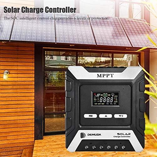 precauti MPPT Solarladeregler, Solarladeregler LCD-Display Solarpanel Controller Regler mit Mehrfachschutz, 10A / 20A / 30A / 40A / 50A / 60A mit 12V / 24V / 48V