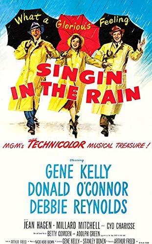 Amazon.com: Singin' in The Rain - 1952 - Movie Poster: Posters & Prints