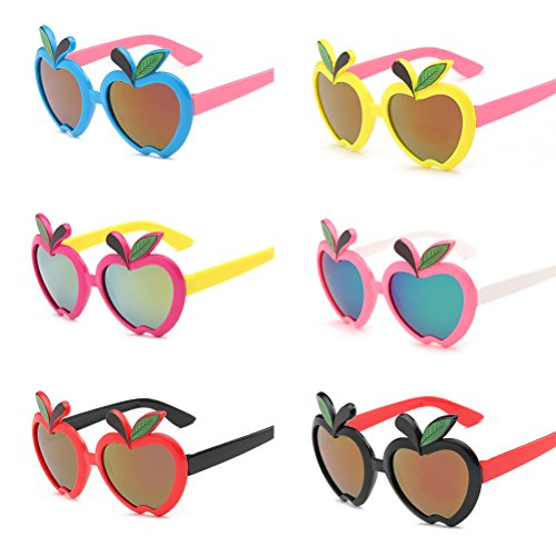TOYMYTOY Party Sunglasses,Fun Gifts,Birthday Party Accessory - Apple Sunglasses